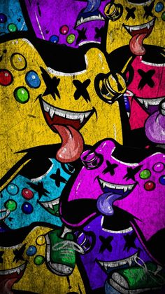 Graffiti Wallpaper Iphone, Crazy Wallpaper, Game Wallpaper Iphone, Cartoon Wallpaper Hd, Glitch Wallpaper, Pop Art Wallpaper, Hipster Wallpaper, Apple Wallpaper, Galaxy Wallpaper