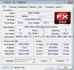 AMD FX-8350 CPU has been overclocked to 8.37 GHz ~ byetech the latest technology news