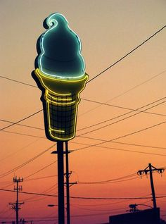 #Retro #IceCream #Neon