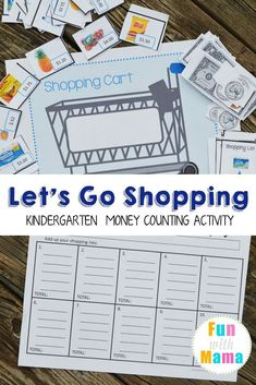 Grocery Shopping Money Counting Activity, Currency Learning, Math Lessons, How to Teach Kids about Money Money Activities with Kids Shopping Games For Kids, Money Games For Kids, Activity Games For Kids, Money Activities, Math Activities For Kids, Counting Activities, Math For Kids, Money Math Games, Economics For Kids