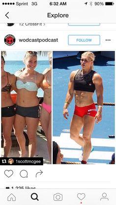 """Fittest """"Woman"""" in the World 2015 & 2016??? A real female does not put on muscle mass like a man....unless it is a MAN. The male square jaw, male glabella, thick Male Neck, wide Male Shoulders, long male trunk, high Male Navel, narrow male hips leading to a narrow Q-angle...is a MAN wearing a sports bra and women's clothing."""