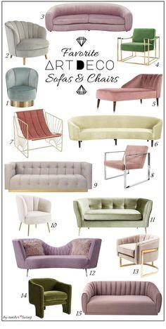 Art Deco Living Room, Art Deco Chair, Art Deco Bedroom, Art Deco Decor, Art Deco Furniture, Furniture Legs, Barbie Furniture, Garden Furniture, Furniture Design