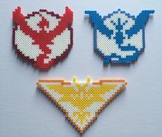 Pokemon Go Teams: Valor Mystic and Instinct perler beads by PixelPrecious