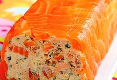 Roll cream cheese and smoked salmon
