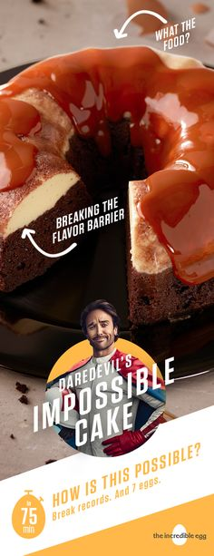 Is the daredevil in you ready to take on this cake? We think you can handle it. Pro Tip: top with chunks of chocolate placed in whip cream dollops on top of cake. Mexican Food Recipes, Sweet Recipes, Cake Recipes, Dessert Recipes, Egg Recipes, Bunt Cakes, Cupcake Cakes, Cupcakes, Holiday Dinner