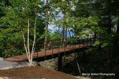 Custom Steel and Wood Entrance Bridge by Nop's Metalworks