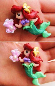 Ariel hair clip by ~mayumi-loves-sora on deviantART