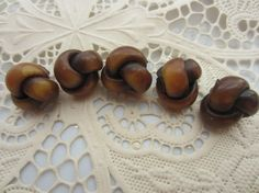 Vintage Buttons   matching lot of 5 knotted by pillowtalkswf, $6.95