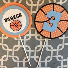 Basketball centerpiece sports centerpiece by SprinkledCelebration