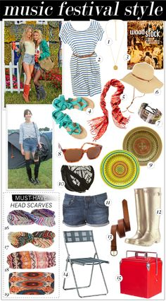 Goregous accessories for any music festival!!