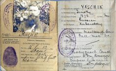 "Identification card of Timofei Ksenofontovich Yachik,personal Cossack bodyguard of the Dowager Empress Marie Feodorovna of Russia,who faithfully served her till her last days.   ""AL"""