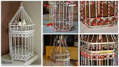 How to make cage from newspaper tubes