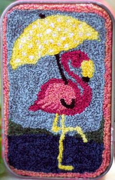 Pretty in Pink Punch Needle Kit from Myrtle Grace Motifs Finished piece size approx 2 x 3.5 Kit includes: Color Chart Step by step punching instructions Finishing suggestion Preprinted pattern on 9 x 11 piece of weavers cloth Ready to ship today Note: This listing is for the