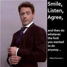 Robert Downey advice