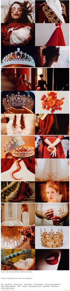 "foundinghouses: Harry Potter House Aesthetic: Gryffindor Royalty | ""Power is everything. Therefore I am everything."""