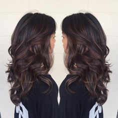 60 Chocolate Brown Hair Color Ideas for Brunettes – Balayage Hair Styles Chocolate Brown Hair Color, Brown Hair Colors, Chocolate Highlights, Hair Colours, Caramel Highlights, Deep Burgundy Hair Color, Espresso Hair Color, Deep Brown Hair, Brown Balayage
