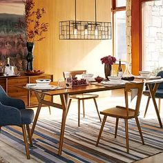 Mid-Century Expandable Dining Table #westelm 60-80x38 expandable walnut veneer for $700