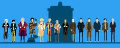 All the Doctors...in pixel form