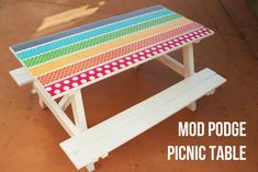 As summer nears, gear up to make this fun Mod Podge Picnic Table in the latest edition of Make it with Mod Podge with Cathie & Steve!