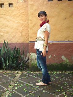 Coffee Break: COZY SUNDAY LOOK earth colors accesories foulard sandals salsa jeans