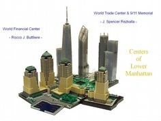 Centers of Lower Manhattan: A LEGO® creation by Rocco Buttliere : MOCpages.com