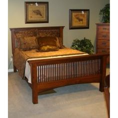 Bed Arts And Crafts Furniture Made In USA Available At Amish Oak And Cherry