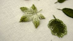 Hand embroidery leaves designs for beginners: 06 types of leaves Do you want to add more variety to your hand embroidery projects by stitching different type. Embroidery Leaf, Hand Embroidery Projects, Embroidery Stitches Tutorial, Cute Embroidery, Hand Embroidery Designs, Embroidery Techniques, Embroidery Patterns, Machine Embroidery, Types Of Embroidery