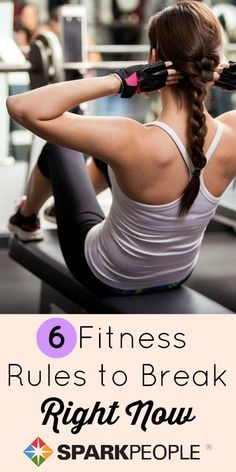 6 outdated rules that even smart exercisers still follow. You're not guilty of these workout mistakes, are you? | via @SparkPeople #fitness