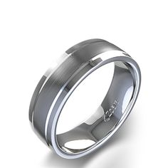 Satin Finish Men's Wedding Ring in Palladium<- First choice ring for tyler.... he wants a plain silver band ring..  i think he would really like this one