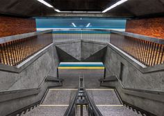 Photography project documenting all of Montreal's metro stations.