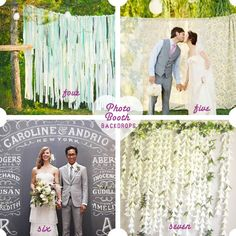 A roundup of my favorite DIY photo booth backdrops.