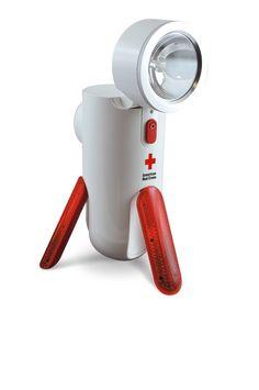 Amazon.com: Eton ARCPT100W American Red Cross Road Torq Self-Powered Spotlight and Emergency Beacon: Car Electronics