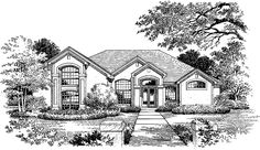 Eplans New American House Plan - Flows to the Heart - 2311 Square Feet and 4 Bedrooms from Eplans - House Plan Code HWEPL02848