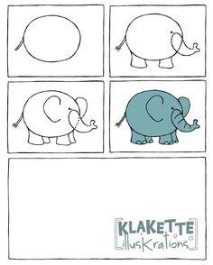 olifant tekenen met kleuters