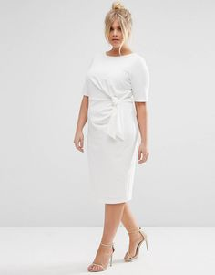 9d81f095e8a CURVE – Wiggle-Kleid mit Knoten Moda Plus Size