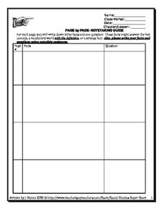 Book study guide template