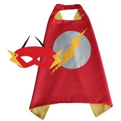 Flash Superhero Cape and Mask for Boys, Costume for Kids Birthday Party, Favors, Pretend Play, Dress Up Favors, Christmas Gift, Gray