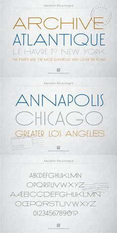 Archive Atlantique. Display Fonts. $9.00