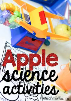 Apple Science for little learners is a great way to teach parts of the apple, life cycle, and a scientific investigation. Your little students will learn the science of the apple in a fun way. #applescience #appletheme #science #scienceactivities #scientificinvestigation #scienceofapples #mrsjonescreationstation