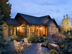 Current Image Porch | Plan W12913KN: Vaulted Living Room and Master Suite