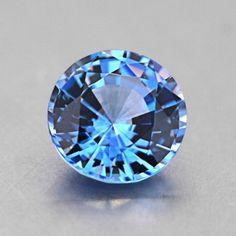 6mm Blue Round Sapphire #BrilliantEarth