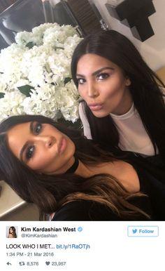 Kim Kardashian met her doppleganger!