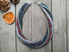 GIFT for HER textile necklace statement textile by Zojanka on Etsy