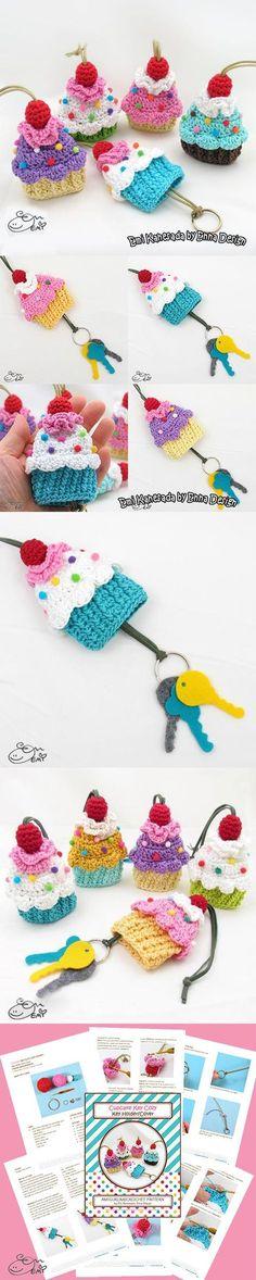 Cupcake Key Cozy Crochet Pattern