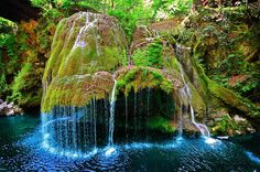 """The 33 Most Surreal Places On Earth, Bigar Waterfall, Romania---The locals call this waterfall """"the miracle from the Minis gorge."""" The moss formation which the falls travel over is 8 meters tall, creating one of the most beautiful waterfalls in the world. Beautiful Places In The World, Places Around The World, Amazing Places, Amazing Photos, Unbelievable Pictures, Beautiful Pictures, Places To Travel, Places To See, Europe Places"""