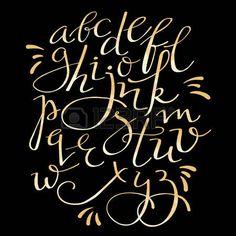 Handwritten brush style modern calligraphy cursive font calligraphy gold style texture flourish alphabet elegant swirl font for menu or wedding invitation titles photo altavistaventures Gallery
