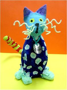 3rd Grade Cat Sculptures