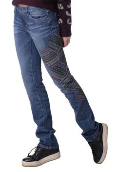 667cac52d99 MISSONI SPORT Jeans Size 27 Stretch Faded Embroidered Made in Italy RRP 195  #fashion #