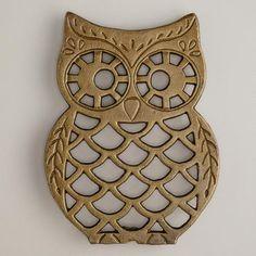 Cast Iron Owl Trivet at Cost Plus World Market >> #WorldMarket Owl Kitchen