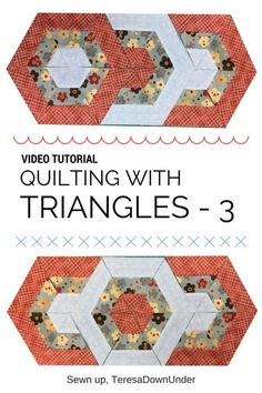 Video tutorial: quilting with triangles 3